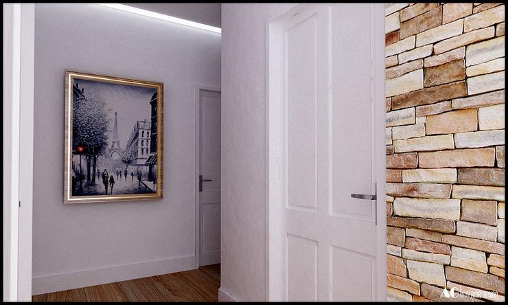 AG Interior Design Modern corridor, hallway & stairs
