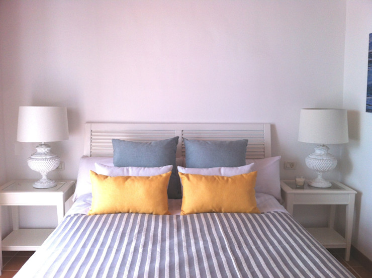 Tatiana Doria, Diseño de interiores Mediterranean style bedroom