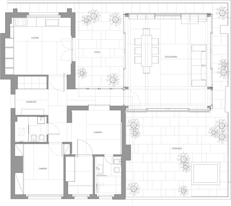 Piano B Architetti Associati Asian style houses