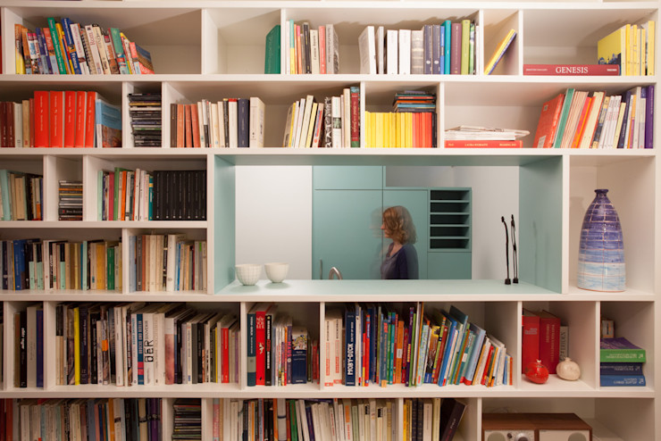 büro für interior design Ruang Keluarga Modern