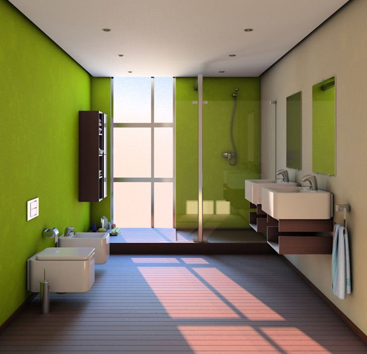 Sergio Casado Phòng tắm: thiết kế nội thất · bố trí · ảnh