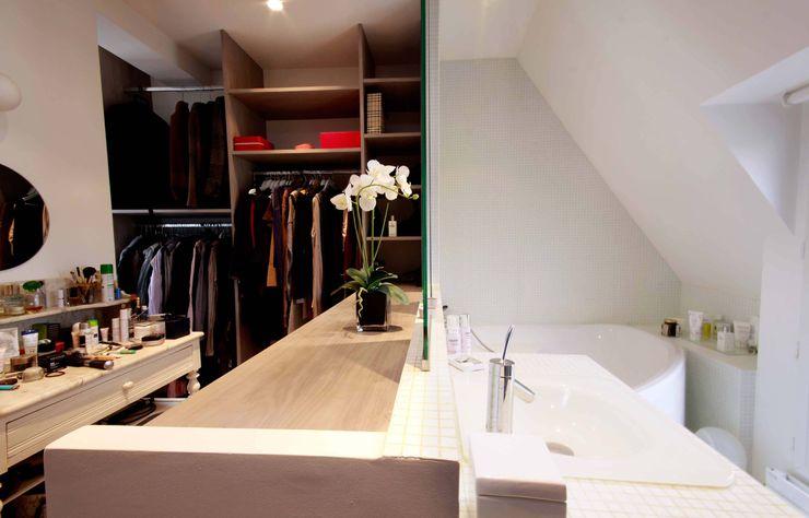 Agence KP VestiárioGuarda-roupas e cómodas Madeira Cinzento