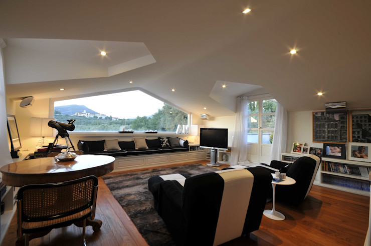 il progetto di una villa archbcstudio Modern Study Room and Home Office