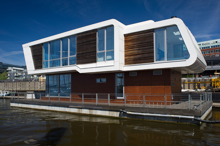 FLOATING HOMES Eclectic style houses