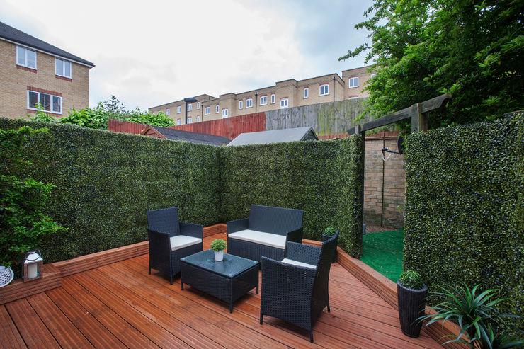 Garden - Canary Wharf Millennium Interior Designers Moderner Garten