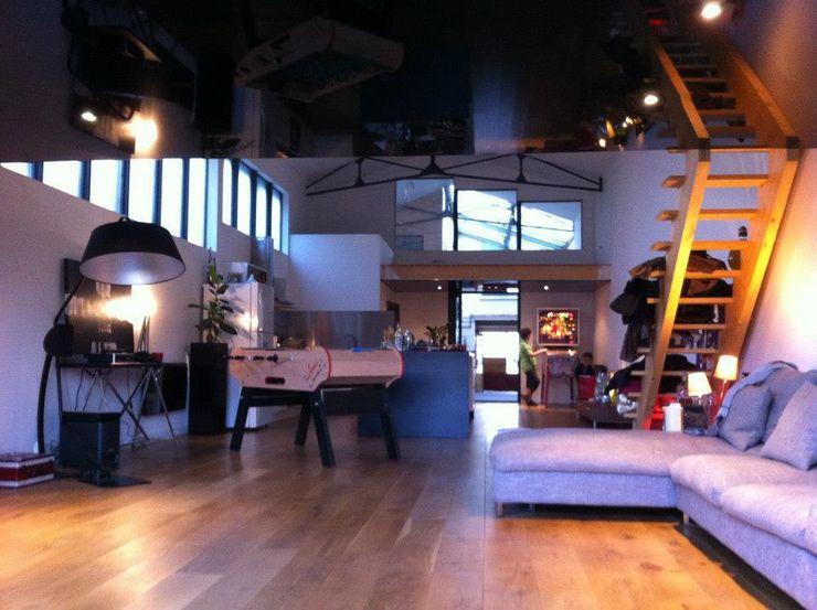 Loft AC/DC Allegre + Bonandrini architectes DPLG Salon industriel