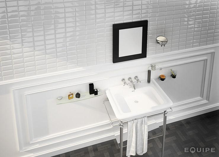 Metro White 7,5x15 Equipe Ceramicas Baños de estilo moderno Cerámico