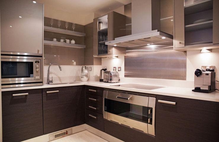 Chelsea Harbour Apartment homify Kitchen