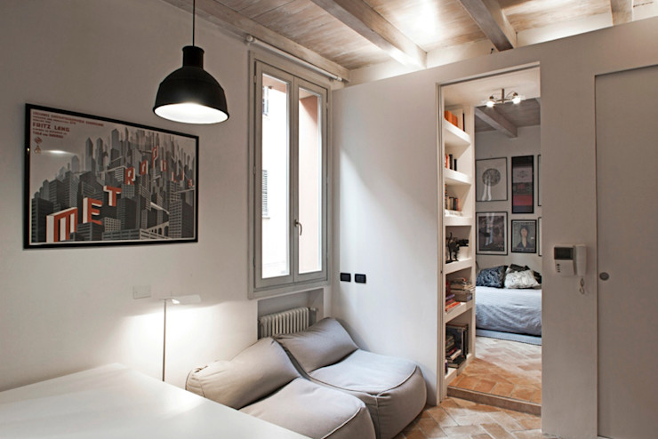 MIROarchitetti 现代客厅設計點子、靈感 & 圖片