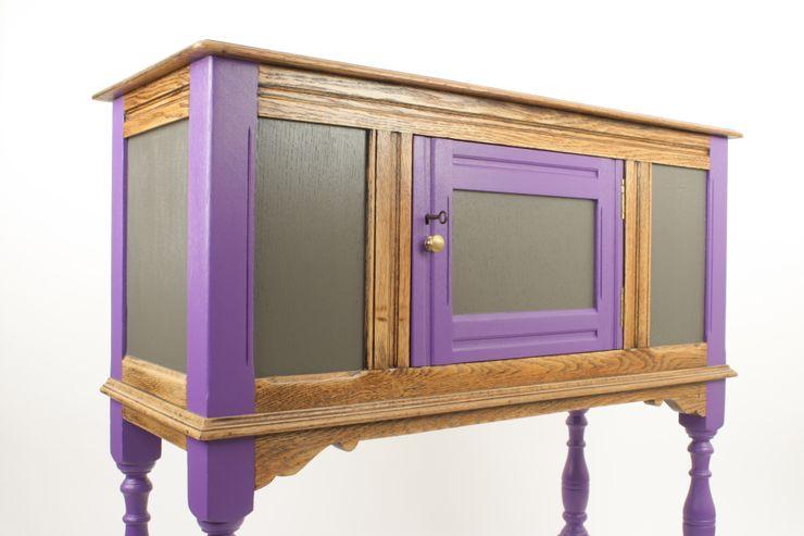 Upcycled vintage oak cabinet Narcissus Road Furniture Design SalasEstanterías