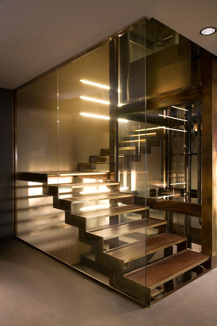 Cannata&Partners Lighting Design Mediterranean corridor, hallway & stairs