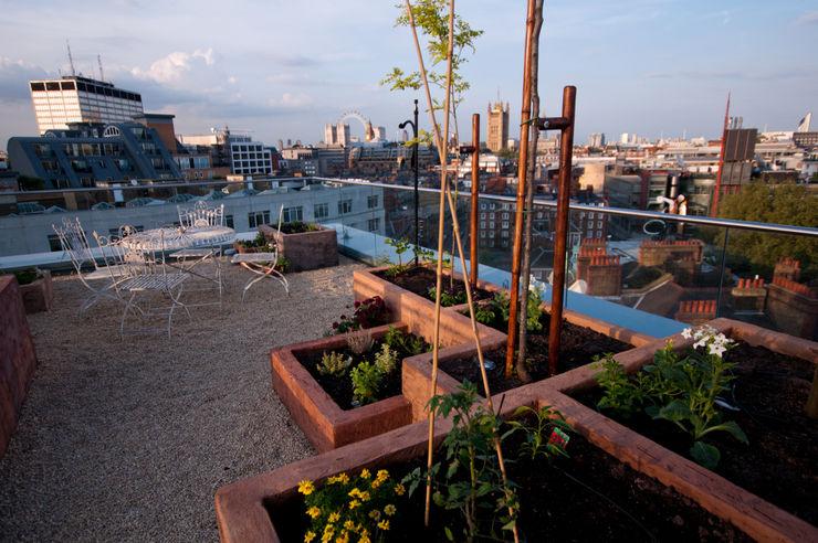 Victoria 2, London Urban Roof Gardens Modern balcony, veranda & terrace
