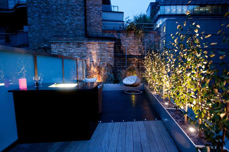London Bridge, London Urban Roof Gardens 모던스타일 발코니, 베란다 & 테라스