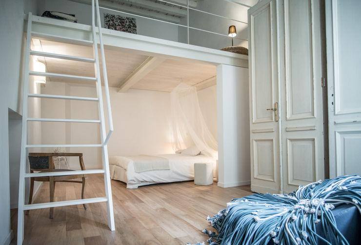via delle Orfane con3studio Camera da letto