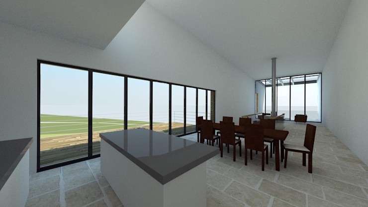 House In Nova Scotia, Canada 4D Studio Architects and Interior Designers Salle à manger moderne