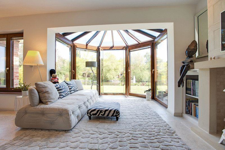 Conservatory Stunning Spaces Ltd Eclectic style living room