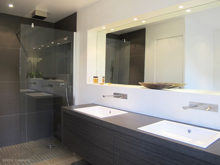 Salle de bain en béton ciré INSIDE Création Salle de bain moderne