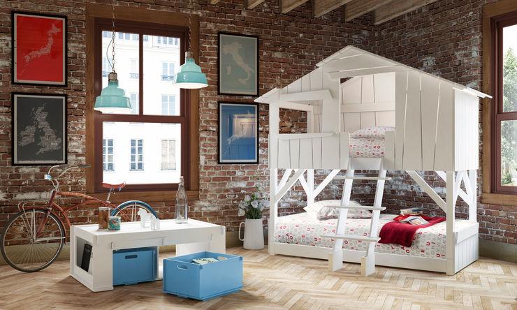 KIDS TREEHOUSE BEDROOM BUNKBED in White Cuckooland Chambre d'enfantsLits & Berceaux