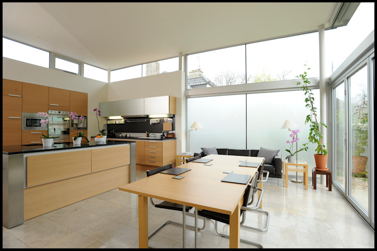 Dick Place - kitchen ZONE Architects Modern kitchen