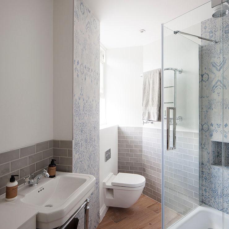 Oakhill Court, Putney Ardesia Design Baños de estilo rústico