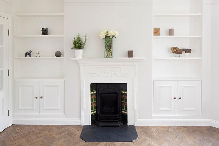 Oakhill Court, Putney Ardesia Design Rustic style living room