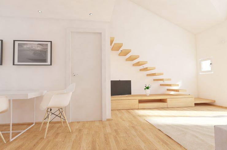 aDC architetto Davide Conconi Couloir, entrée, escaliers modernes