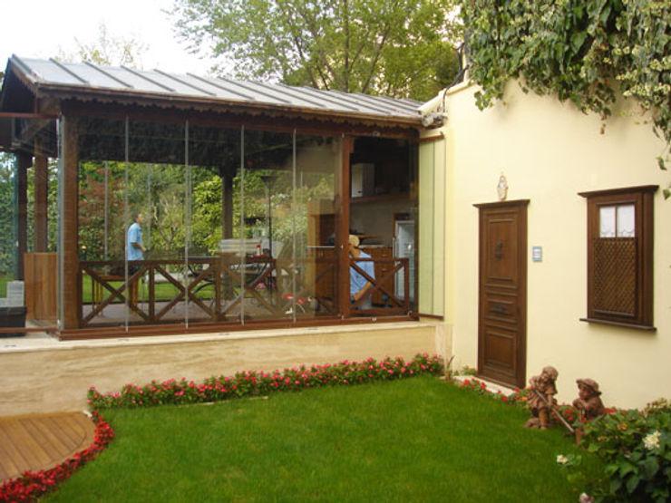 Zafer Kurşun Evi AR-ES MİMARLIK TİCARET LTD STİ Modern Balkon, Veranda & Teras