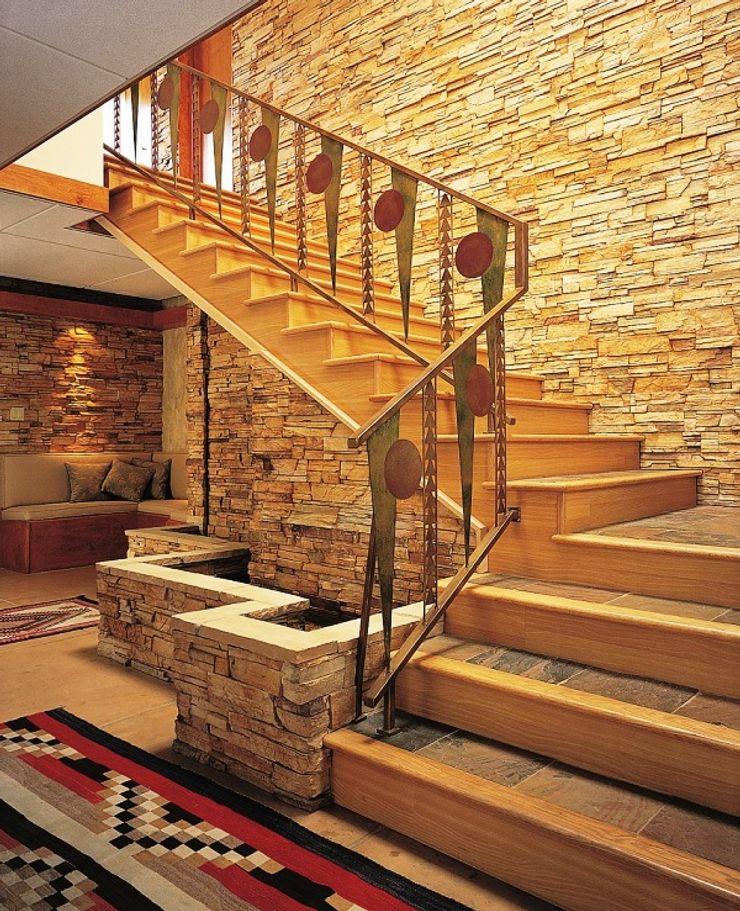 AKDENİZ TADİLAT DEKORASYON Mediterranean style corridor, hallway and stairs