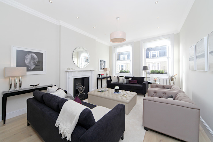 City appartment Hampstead Design Hub Modern Living Room