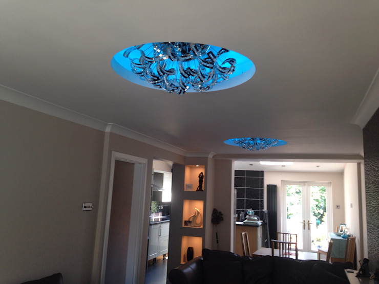 Ceiling with circles built in Lancashire design ceilings Living room