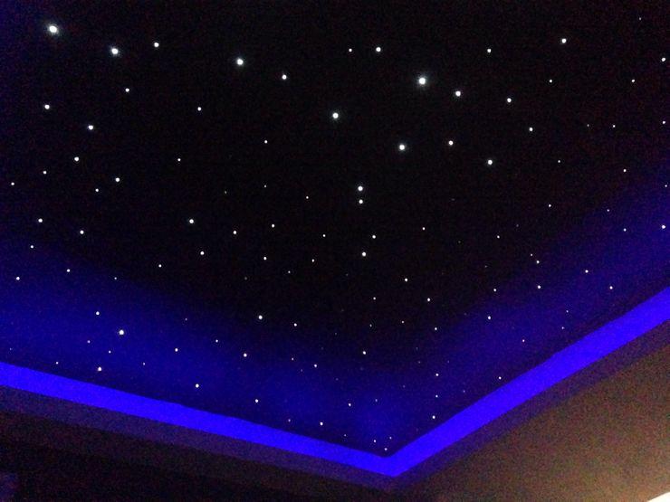 Starlight ceiling in 'movie room' Lancashire design ceilings Modern living room