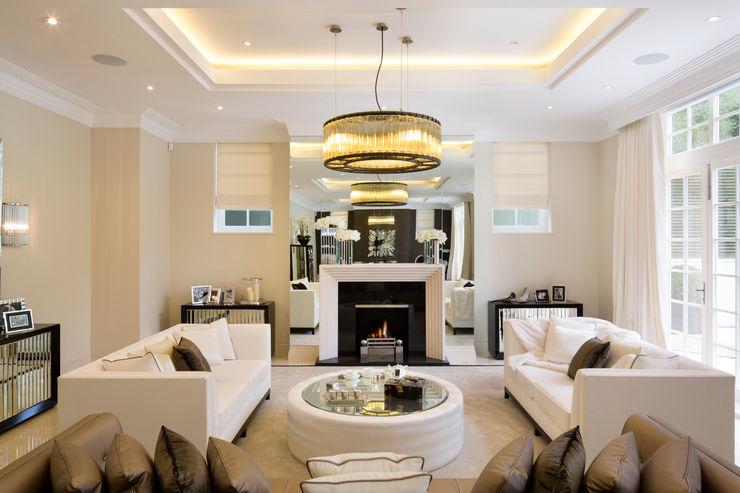 Fairways at the Bishops Avenue Celia Sawyer Luxury Interiors Moderne woonkamers