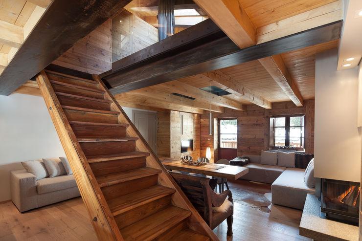 archstudiodesign 스칸디나비아 복도, 현관 & 계단