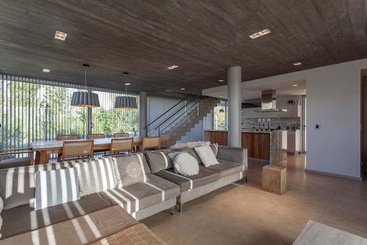 ESTUDIO GEYA 现代客厅設計點子、靈感 & 圖片