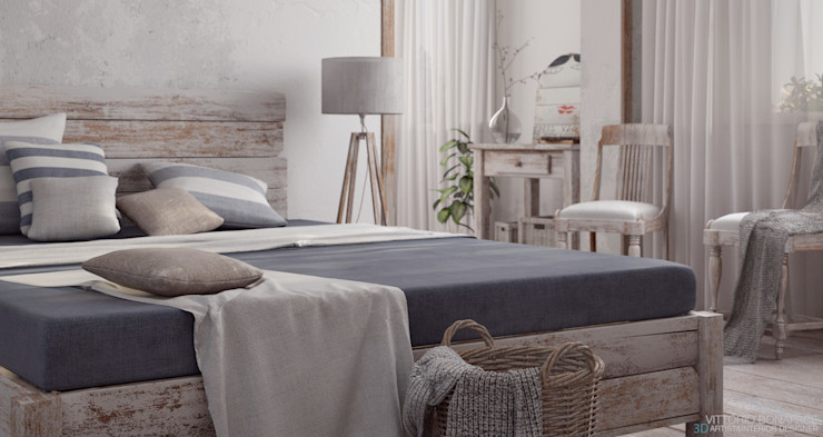 Vittorio Bonapace 3D Artist and Interior Designer Rustic style bedroom