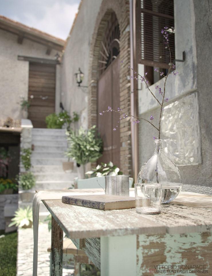 Vittorio Bonapace 3D Artist and Interior Designer Rustic style garden