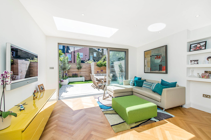 Family Living homify Salones de estilo moderno