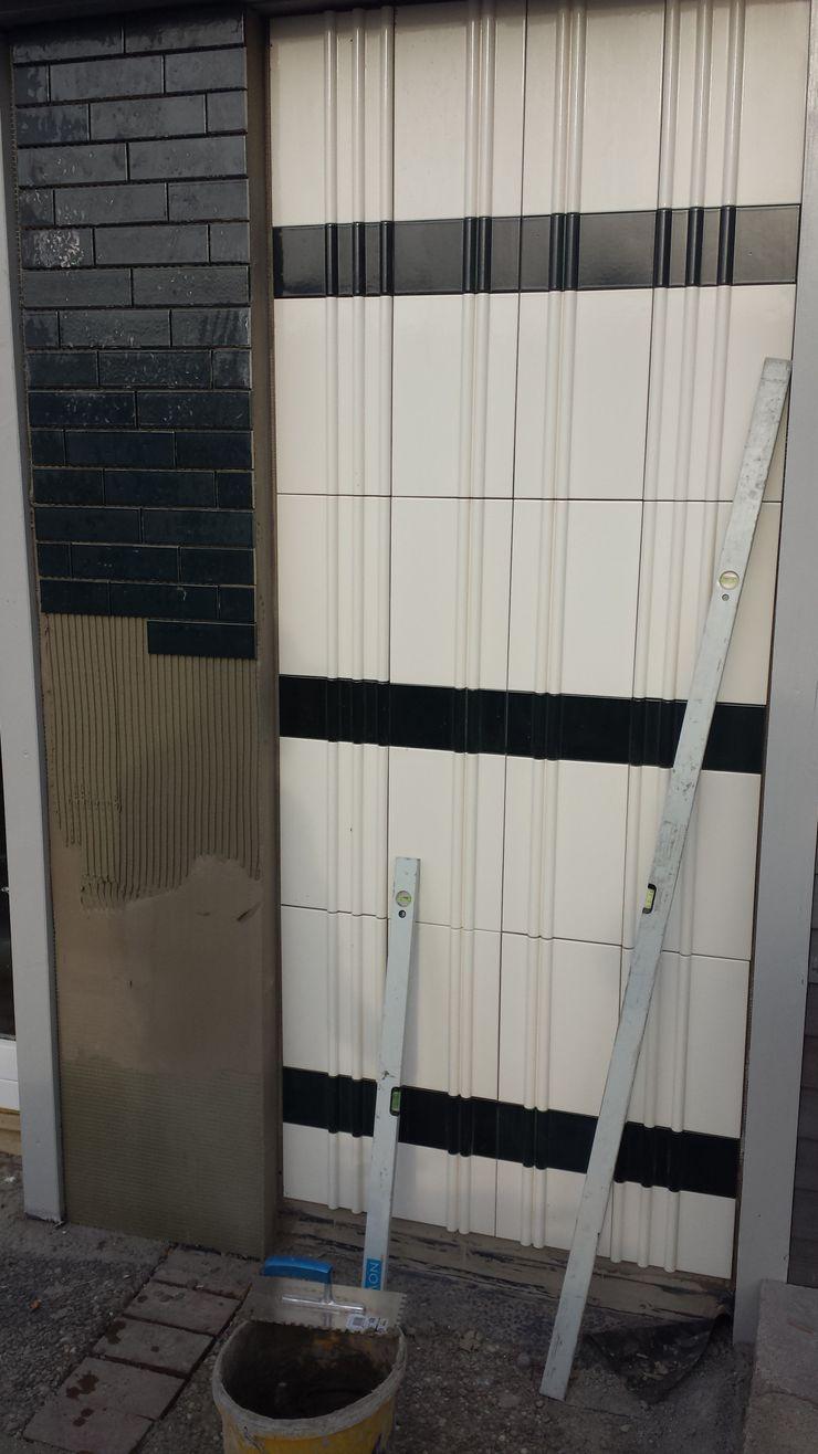 Wandverkleidung mit 3d VESELY! ceramics VESELY Fassadenagentur Ausgefallene Bürogebäude
