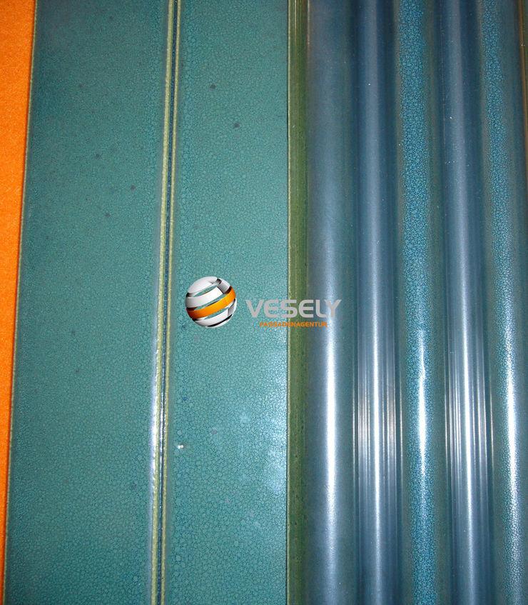 Wandgestaltung mit VESELY! ceramics 3d collection VESELY Fassadenagentur Ausgefallenes Messe Design