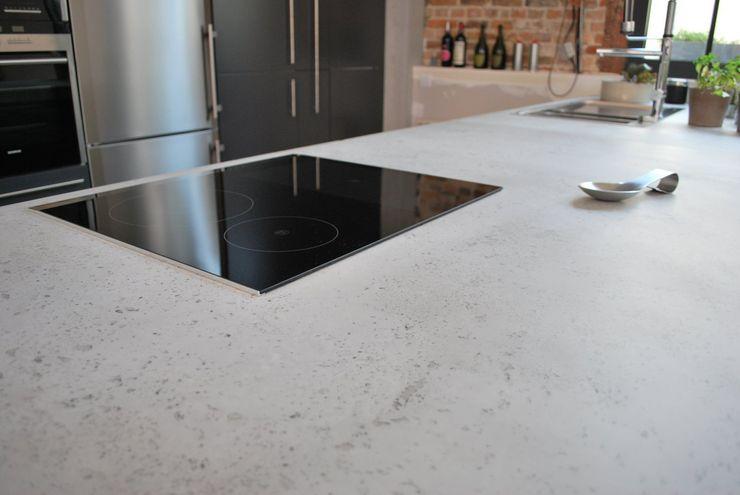Raw Concrete Loft Kitchen Concrete LCDA Modern kitchen Concrete Grey