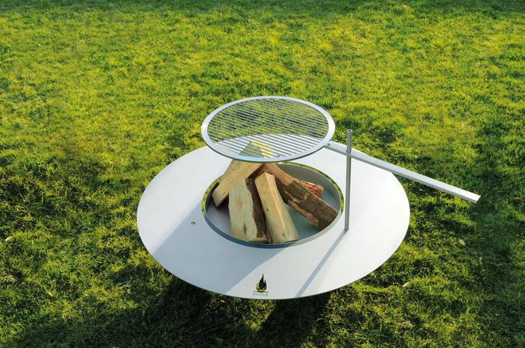 Fireplate Edelstahl Radius Design GartenFeuerplätze und Grill