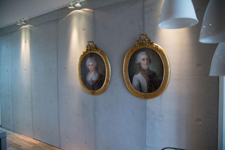 Concrete walls, PANBETON® - Private Apartment, Paris VI Concrete LCDA Modern Kitchen
