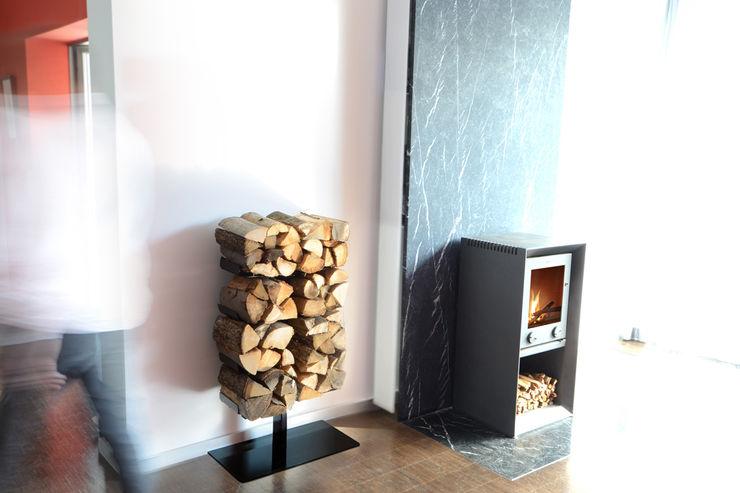 Holzregal Wooden Tree Radius Design WohnzimmerKamin und Zubehör