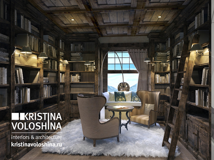 kristinavoloshina Rustic style study/office