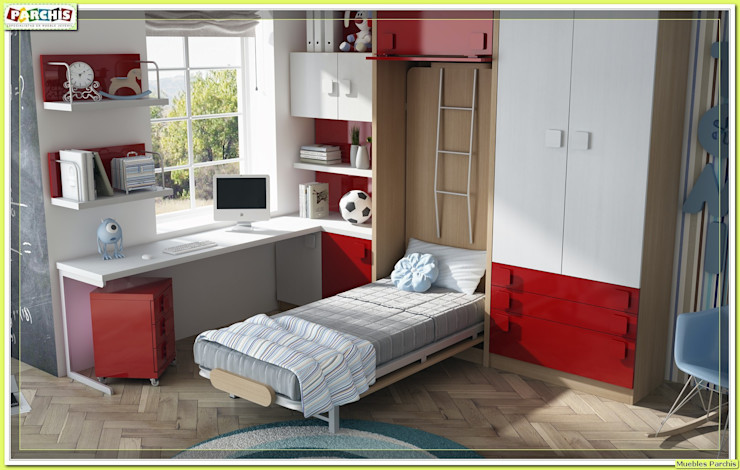 cama vertical abatible Muebles Parchis. Dormitorios Juveniles. RecámarasCamas y cabeceras