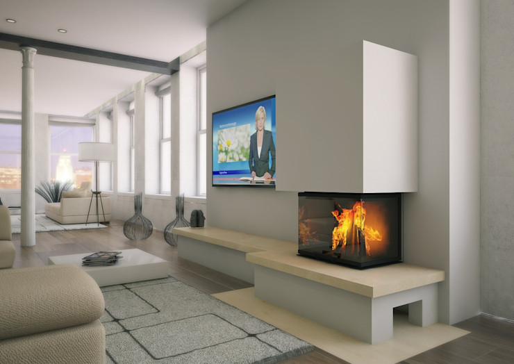 Kago Wärmesysteme GmbH Living roomFireplaces & accessories