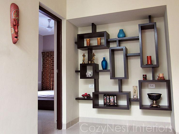 Subramanian Residence Cozy Nest Interiors Modern living room