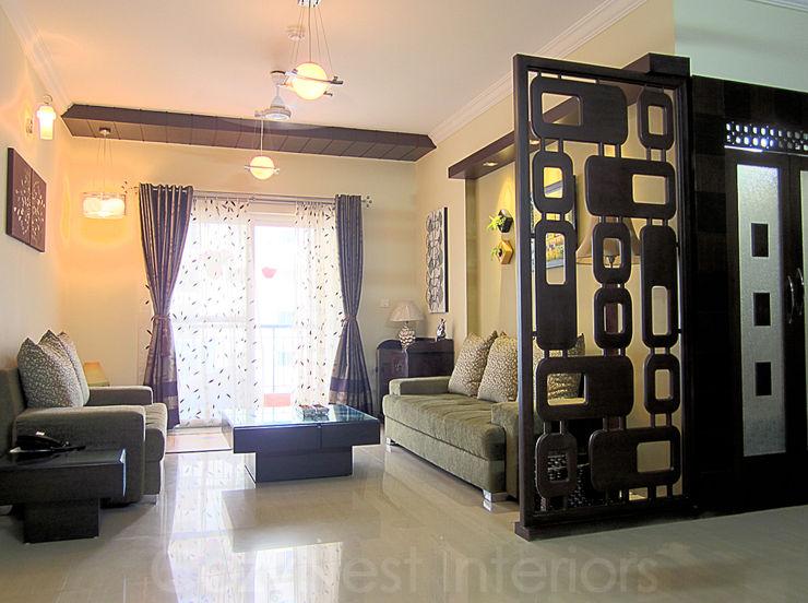 Bharani Residence Cozy Nest Interiors Modern living room