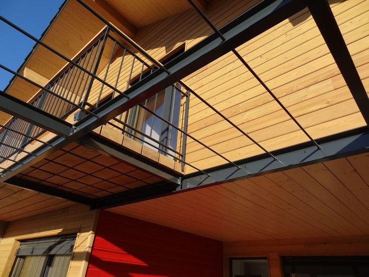 Pergola métallique Tangentes Architectes Maisons modernes