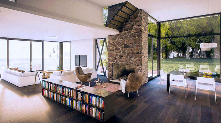 Isola House - living room Haag Architects Comedores de estilo moderno